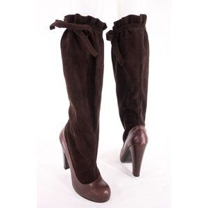 MARC BY MARC JACOBS 39 9 Brown Knee High Tie Boots